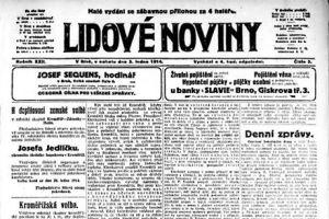 Malé vydání se zábavnou přílohou za 4 haléře. To byly Lidové noviny z3.ledna1914.